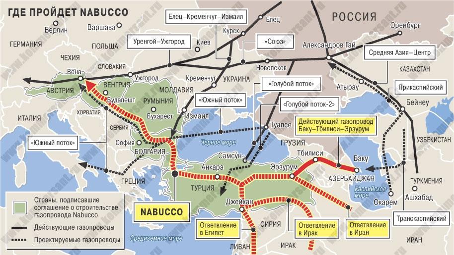 Иран готов поставлять газ в Европу через газопровод